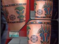 Татуировка индейский рисунок