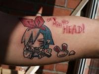 Татуировка девушка с мечом