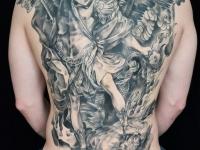 Татуировка ангел на спине