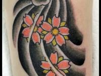 Татуировка цветки