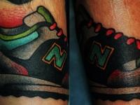 Татуировка кроссовок