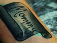 Татуировка табличка