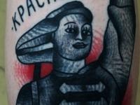 Татуировка красноармеец