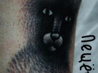 Татуировка Чёрный кот