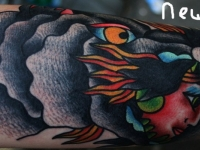 Татуировка девушка-дракон