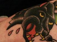 Татуировка голова пантеры