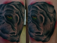 Татуировка голова собаки