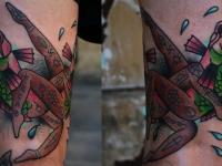 Татуировка рыбы-лесбиянки