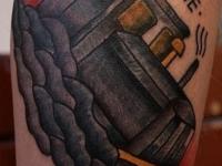 Татуировка бульдозер