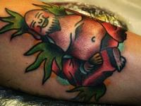 Татуировка веселый китаец