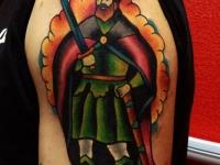 Татуировка воин с мечом