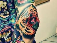 Татуировка голова тигра