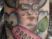 Татуировка портрет в шляпе