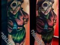 Татуировка девушка-оборотень