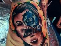 Татуировка Сталин-киборг