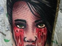 Татуировка кровавые слезы