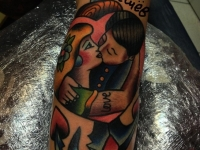 Татуировка поцелуй