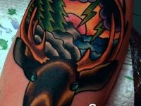 Татуировка голова оленя