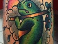 Татуировка жаба с котомкой
