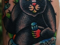 Татуировка Медведь со стопкой