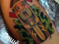 Татуировка деревянный воин