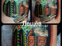 Татуировка Зимний пейзаж