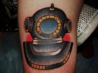 Татуировка подводный шлем