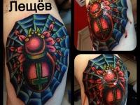 Татуировка Паук на колене