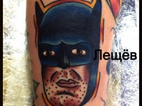 Татуировка голова Бетмена