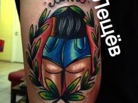 Татуировка фигура девушки