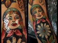 Татуировка матрешка
