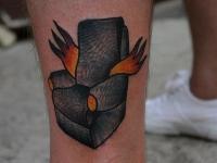 Татуировка кресло с крыльями
