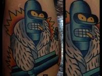 Татуировка робот