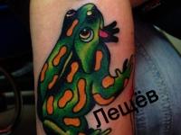 Татуировка жаба