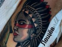 Татуировка женщины-вождя