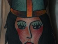 Татуировка девушка-воин
