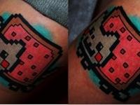 Татуировка кот-пиксель