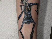 Татуировка на руке карикатура на человека