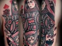 Татуировка бубновая дама