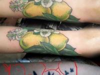 Татуировка лимоны