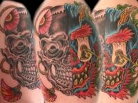 Татуировка череп и замочная скважина