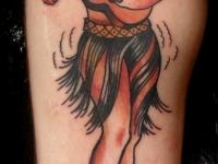 Татуировка девушка с гитарой