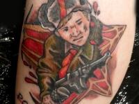 Татуировка русский солдат