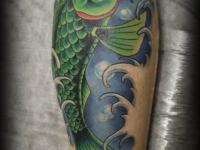 Татуировка рыба на икре