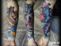 Татуировка созвездия на руке