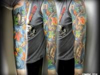 Татуировка дерево на руке