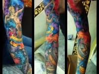 Татуировка кентавр на руке