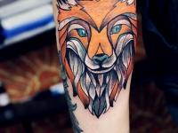 Татуировка морда лиса