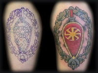 Татуировка щит и меч