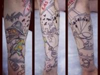 Татуировка Лас-Вегас на руке